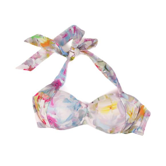 Ted Baker Womens Pink Layatta Hanging Gardens Bikini Top main image