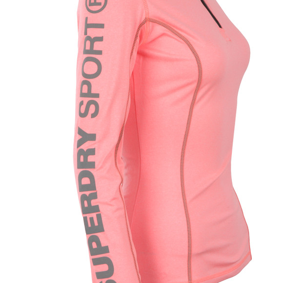 Superdry Womens Red Gym Half Zip Track Top main image