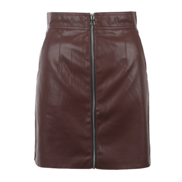 French Connection Womens Brown Atlantic PU Mini Skirt main image