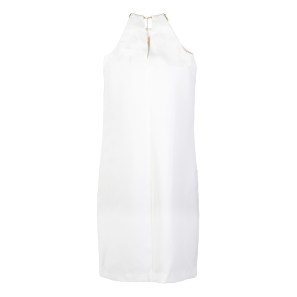 Michael Kors Womens White Neck Pleat Dress main image