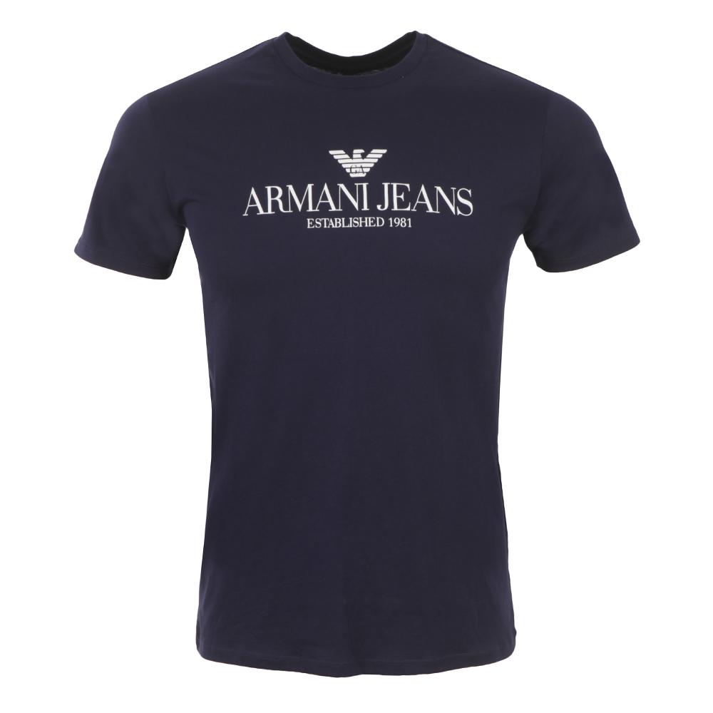 armani jeans c6h6e logo t shirt oxygen clothing. Black Bedroom Furniture Sets. Home Design Ideas