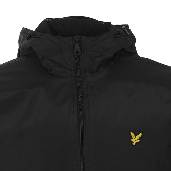 Lyle and Scott Mens Black Zip Through Hooded Jacket main image