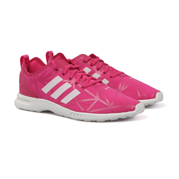 Adidas Originals Womens Pink ZX Flux ADV Smooth Trainers main image