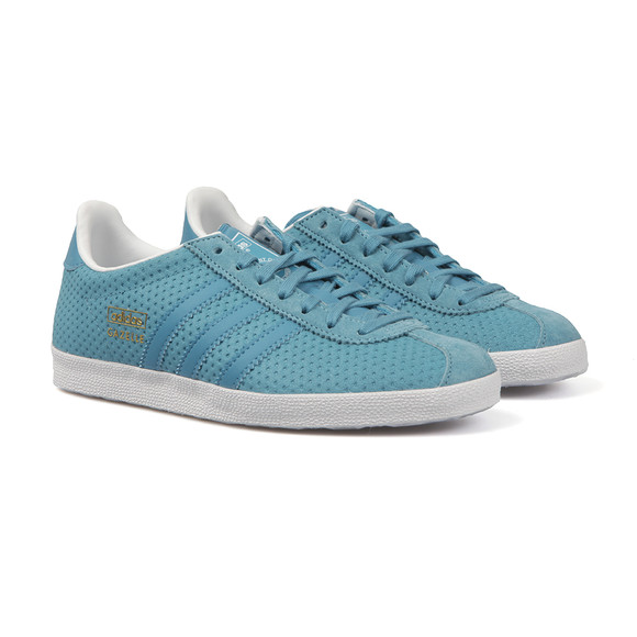 Adidas Originals Womens Blue Gazelle OG W Trainer main image