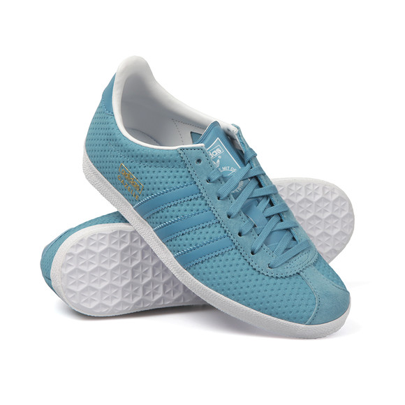 Adidas Originals Womens Blue Gazelle OG W Trainer main image