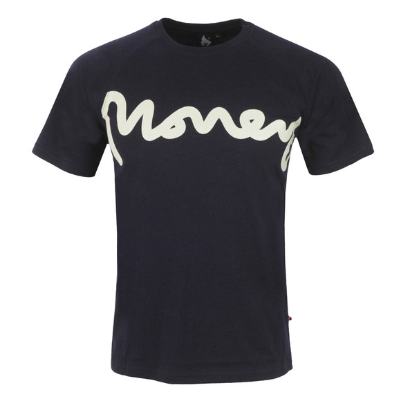 Money Mens Blue Melange Raglan T Shirt main image