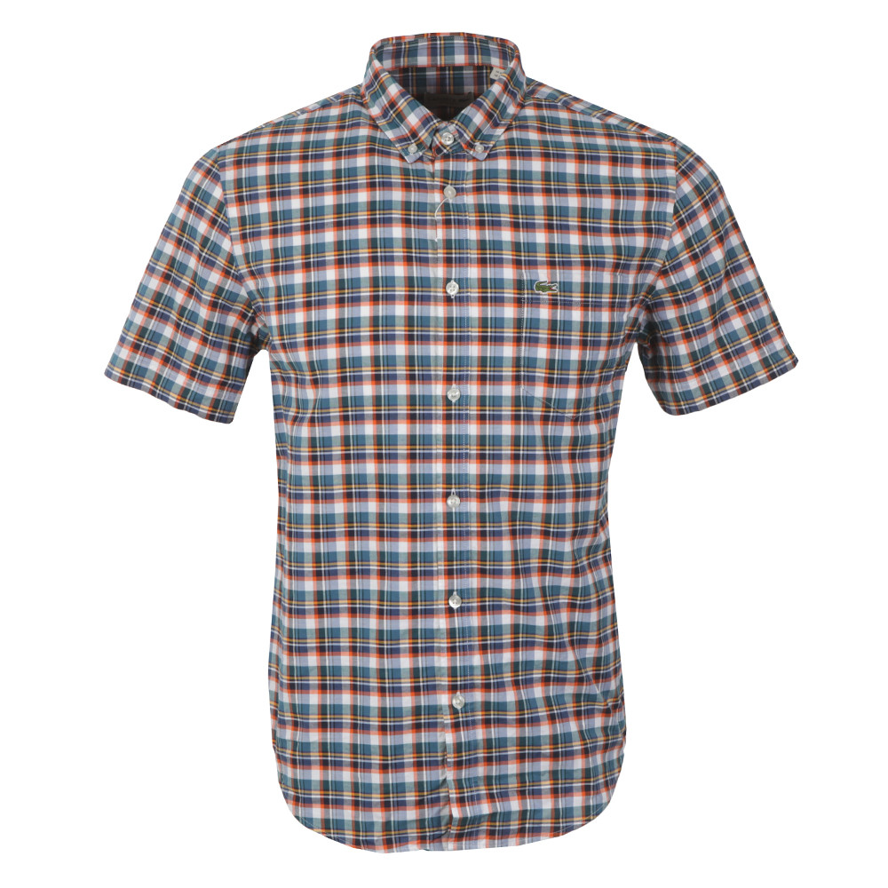 Lacoste short sleeve shirt ch6294 oxygen clothing for Short sleeve lacoste shirt