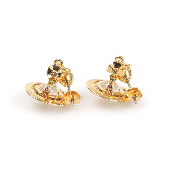 Vivienne Westwood Womens Gold Petite Orb Earring main image
