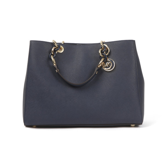 Michael Kors Womens Blue Cynthia Large Satchel main image