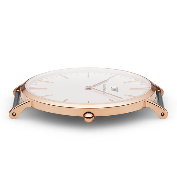 Daniel Wellington Unisex Pink Classic Bristol 40mm Watch main image