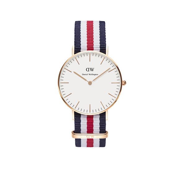 Daniel Wellington Unisex Pink Classic Canterbury 36mm Watch main image