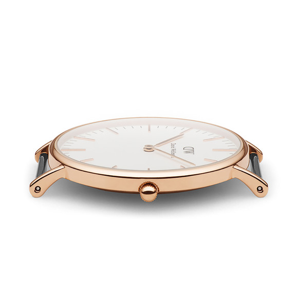 Daniel Wellington Unisex Pink Classic Bristol 36mm Watch main image