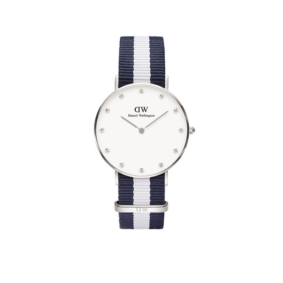 Daniel Wellington Unisex Silver Classy Glasgow 34mm Watch main image
