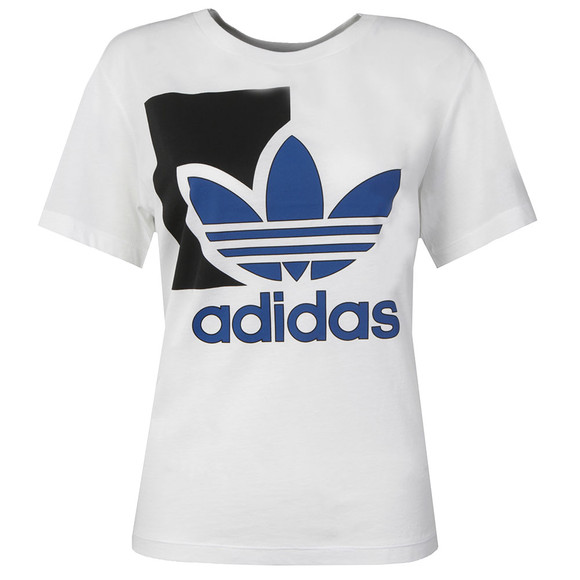 Adidas Originals Womens White Run Logo T Shirt main image