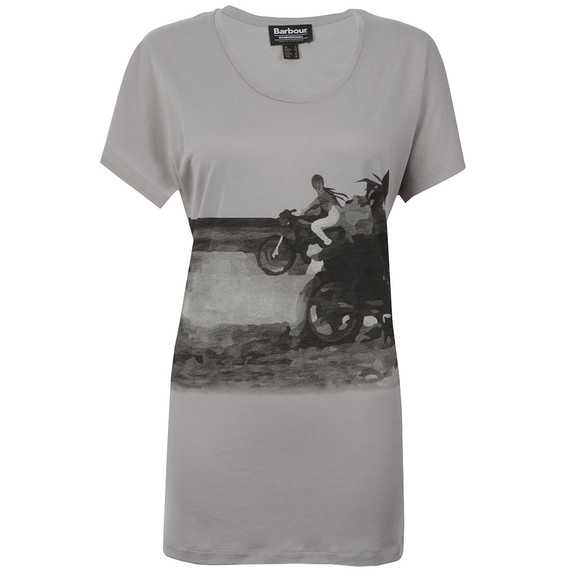 Barbour International Womens Grey Hairpin Tour T Shirt main image