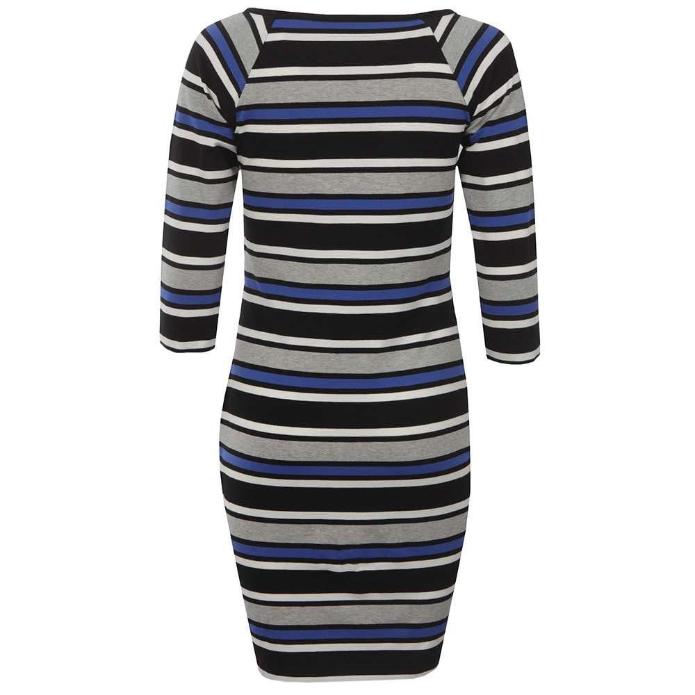 Suo Stripe Square Neck Dress main image