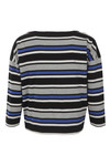 French Connection Womens Blue Suo Stripe Long Sleeve Top