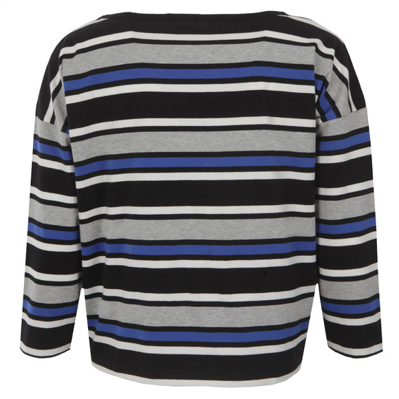 French Connection Womens Blue Suo Stripe Long Sleeve Top main image