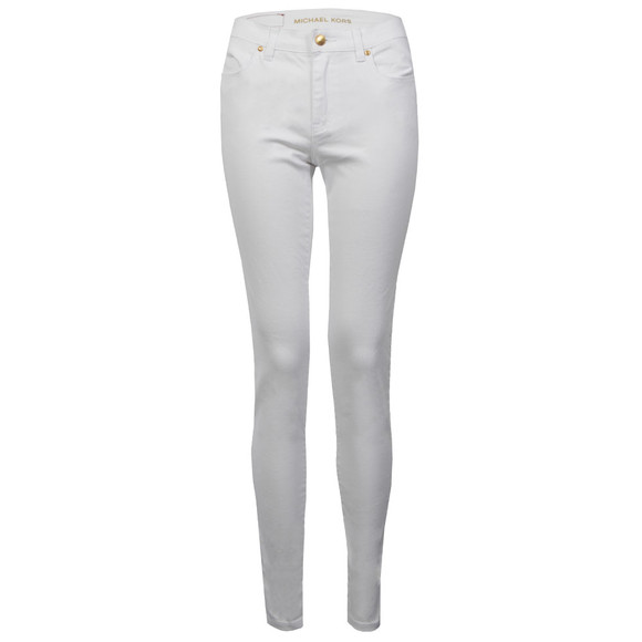 Michael Kors Womens White Selma Skinny Jean main image