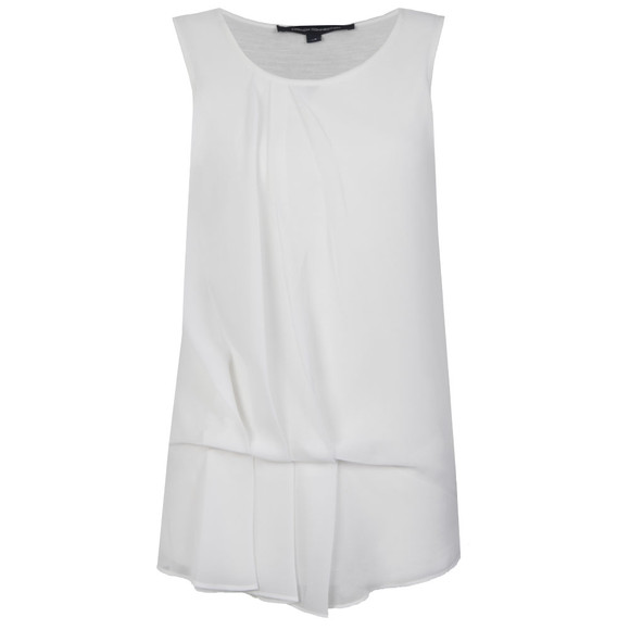 French Connection Womens White Florrie Drape Top main image