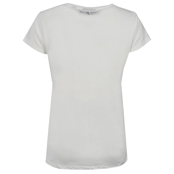 Maison Scotch Womens White Love Series T Shirt main image