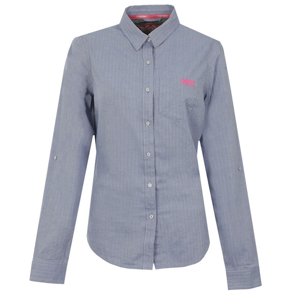 Superdry Womens Blue Oxford Shirt main image