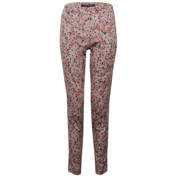 French Connection Womens Pink Bacongo Daisy Cotton Skinny Trouser main image
