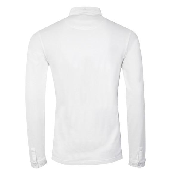 Farah Mens White Merriweather L/S Polo Shirt main image