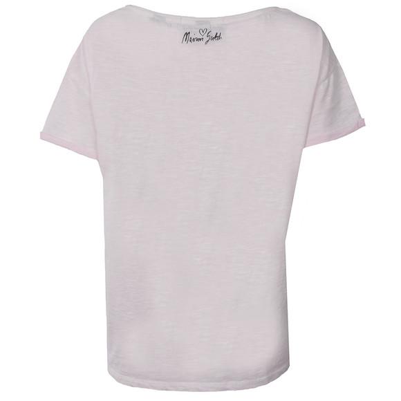 Maison Scotch Womens Pink Cotton Slub T Shirt main image