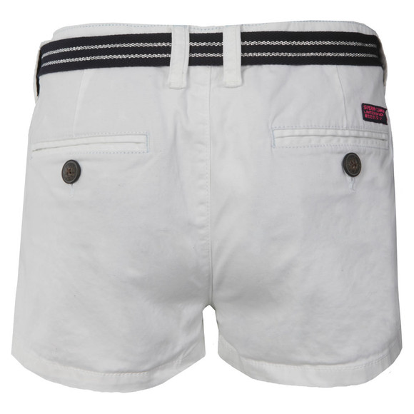 Superdry Womens White International Holiday Hot Short main image