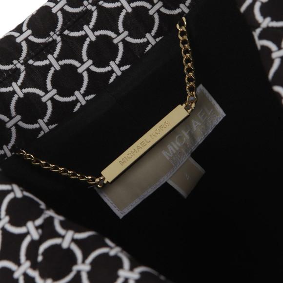 Michael Kors Womens Black 2 Button Patterned Blazer main image