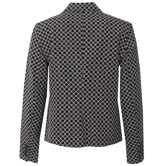 Michael Kors Womens Black 2 Button Patterned Blazer main image