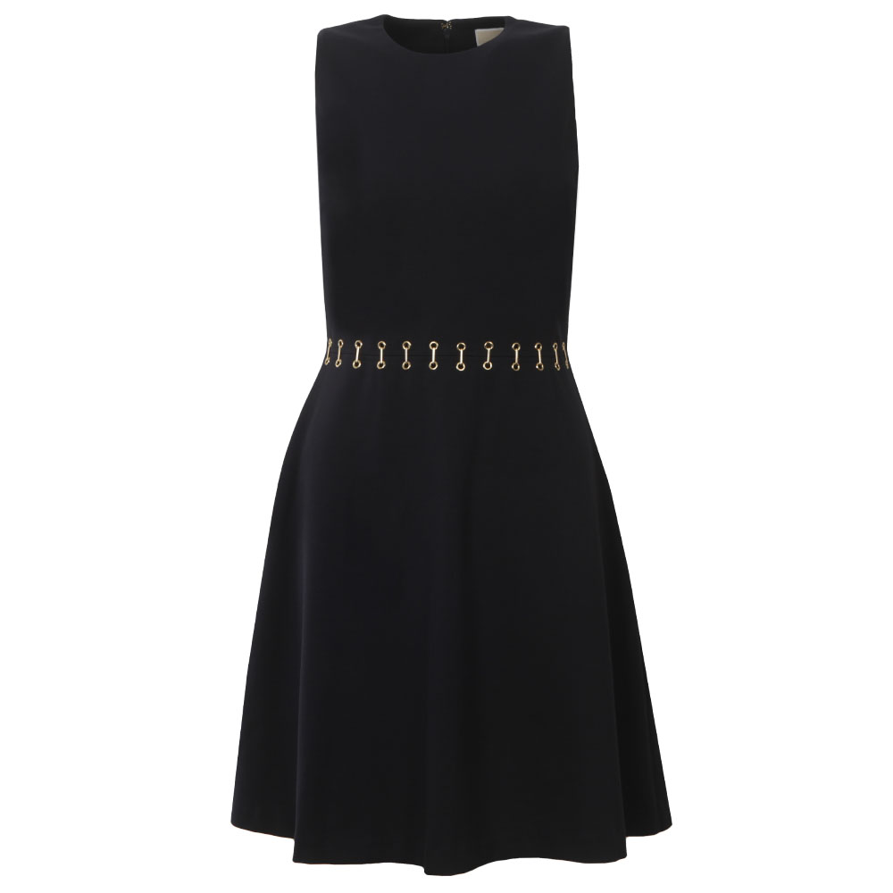 Metal Eyelet Flare Dress main image