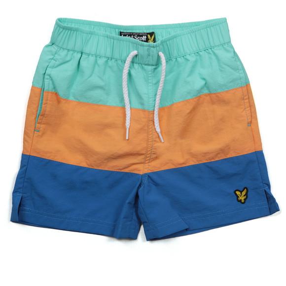 Lyle And Scott Junior Boys Green Cut & Sew Swim Shorts main image