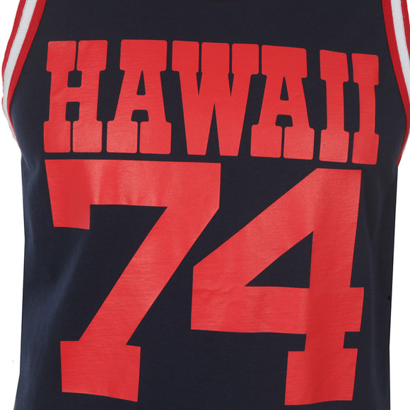 Franklin & Marshall Mens Blue Large Hawaii Logo Vest main image