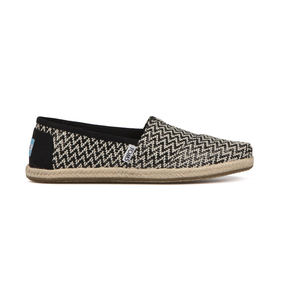 Toms Womens Black Woven Espadrille main image