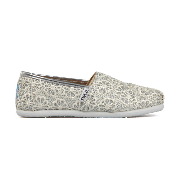 Toms Girls Silver Crochet Classic main image