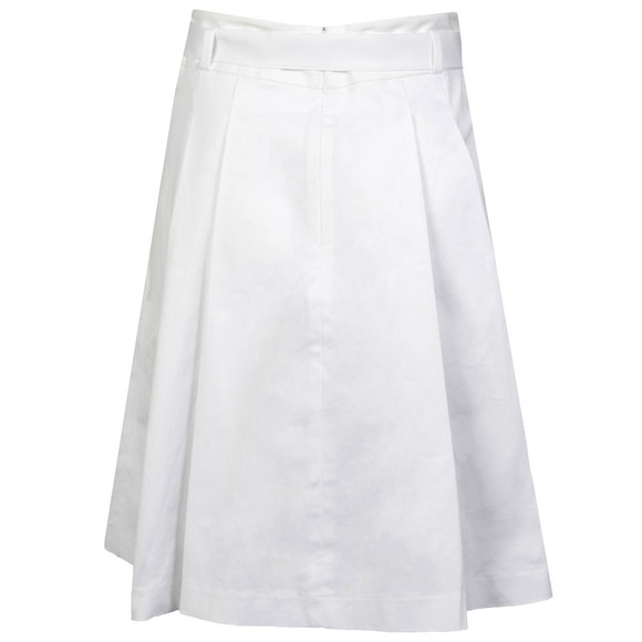 Michael Kors Womens White Belted Pleated Skirt main image