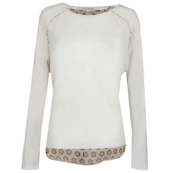 Maison Scotch Womens Off-white Long Sleeve Jersey T Shirt main image