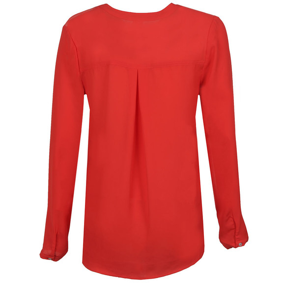 Maison Scotch Womens Red Easy Long Sleeve Top main image