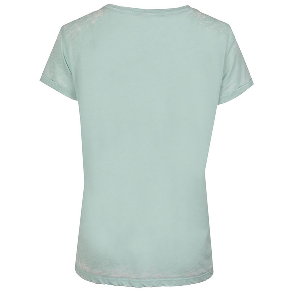 Maison Scotch Womens Green Beach Burn Out T Shirt main image