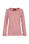 Maison Scotch Womens Red Long Sleeve Stripe Sweat