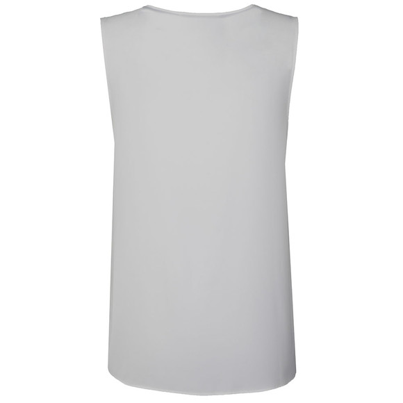 Michael Kors Womens White Sleeveless V Neck Tank Top main image