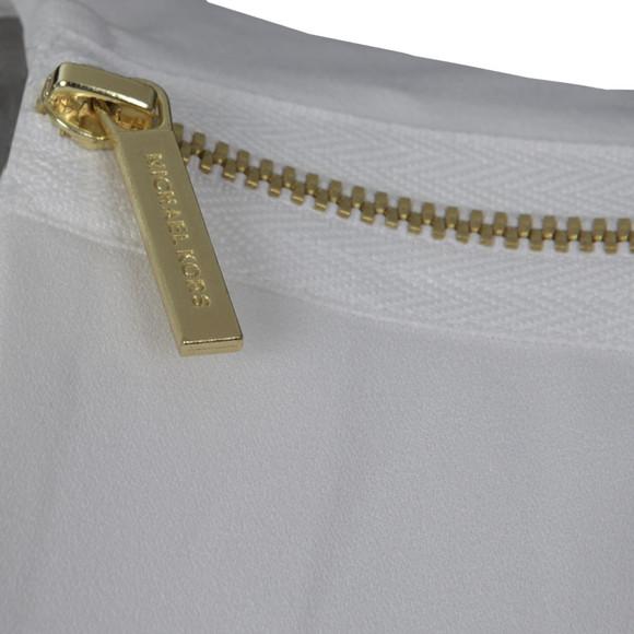 Michael Kors Womens White Sleeveless V Neck Tank Top main image