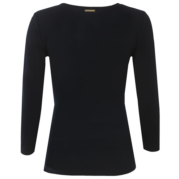 Michael Kors Womens Blue Metal Trim Long Sleeve Top main image