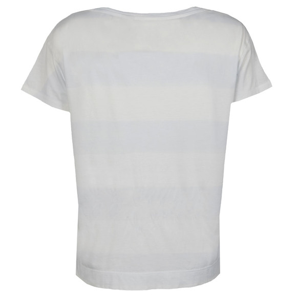 Levi's Womens Off-white Boyfriend T Shirt With Watercolour Stripe main image