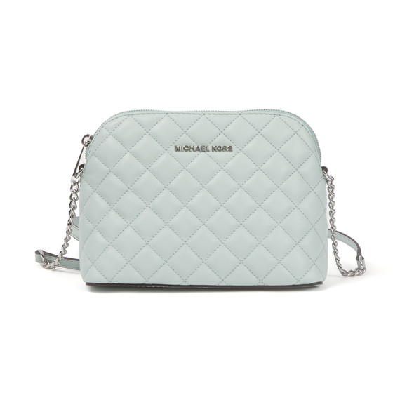 Michael Kors Womens Green Cindy Quilted Dome Crossbody Bag main image