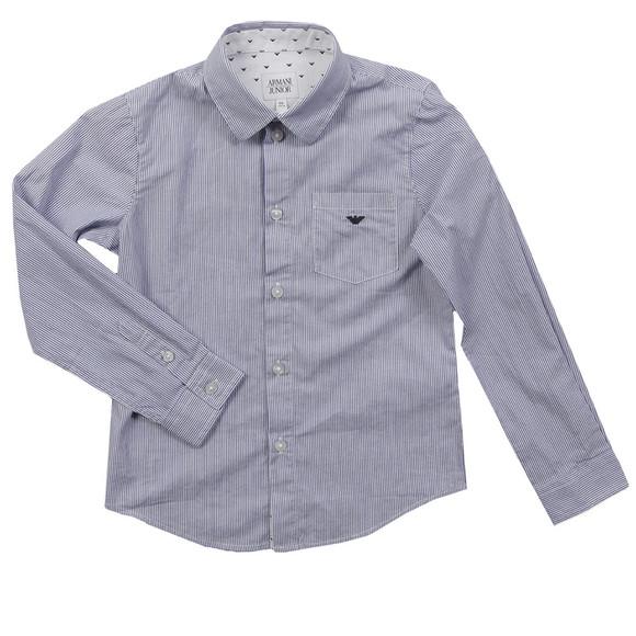Armani Junior  Boys Blue CXC08 Stripe Shirt main image