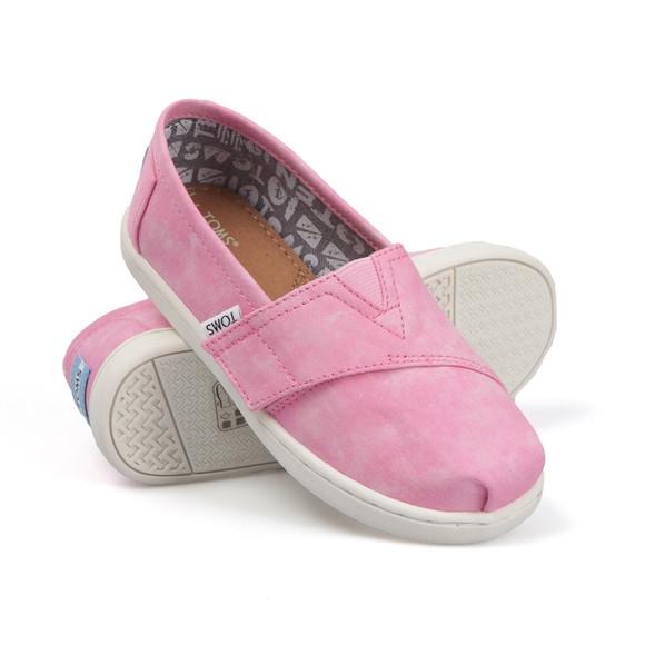 Toms Girls Pink Tie Dye Classic Canvas  main image