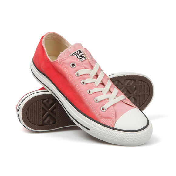 Converse Womens Pink Tie Dye Ox Trainer main image